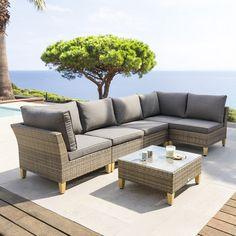 Salon de jardin en résine tressée Cyclades
