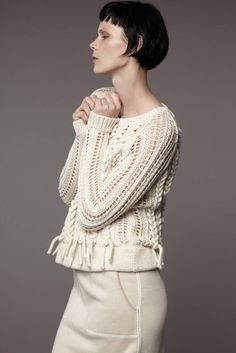 Contemporary Knitwear - chic open knit sweater with chunky cable detail // M.Patmos Resort 2017
