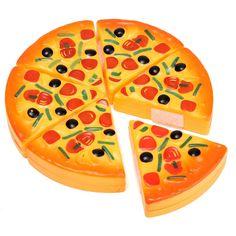 Yapay pizza dilimleri simülasyon oyuncak çocuk yemeği mutfak gıda oyuncak doğum günü çocuk çocuklar hediye brinquedo play pretend