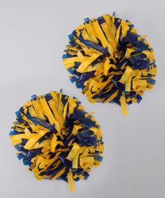 Take a look at this Gold & Royal Blue Pom-Pom Set by CheerZone on today! Cheer Pom Poms, Girly Girl, Cheerleading, Childhood Memories, Royal Blue, Invitations, Activities, School Days, Warriors
