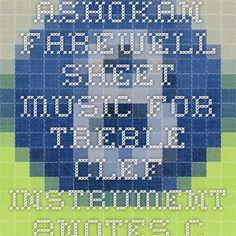 Ashokan Farewell sheet music for Treble Clef Instrument - 8notes.com