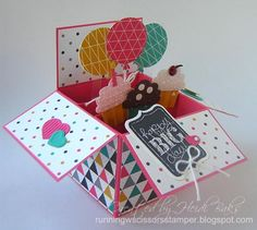 Chalk Talk Birthday Pop-Up Card in a Box by hlw966 - Cards and Paper Crafts at Splitcoaststampers
