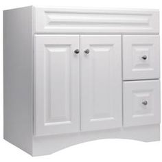 Style Selections Northrup 36-in W x 21-in D White Traditional Bathroom Vanity -- plain but inexpensive...