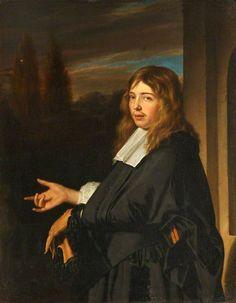 Frans van Mieris - Portret van een man met handschoen in zijn hand