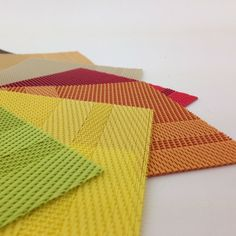 Click to view a #rainbow of #placemat colors! Our Laguna mats are great for indoor and #outdoor #entertainment; they don't stain and are UV resistant so they don't fade! Top shelf dishwasher safe. Find Laguna mats online at www.PacificMerchants.com $5.99
