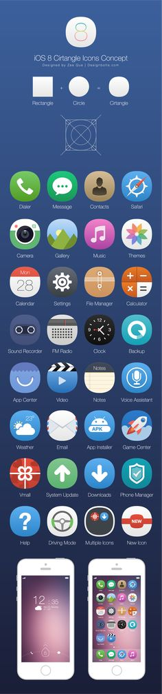 Cirtangle iOS 8 Icons Concept + Free Icons to try - 100+ Awesome Apple Icon Pack