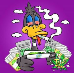 Rollin up 1000 jays for my Trippy Cartoon, Dope Cartoon Art, Cartoon Smoke, Arte Dope, Dope Art, Trippy Drawings, Art Drawings, Comic Cat, Psychedelic Art