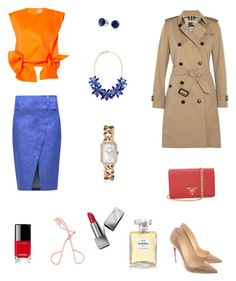 """""""Outfit inspiration 💋"""" by raquel-c-macias on Polyvore featuring Maison Rabih Kayrouz, 10 Crosby Derek Lam, Christian Louboutin, Prada, Kate Spade, Bling Jewelry, Burberry and Chanel"""
