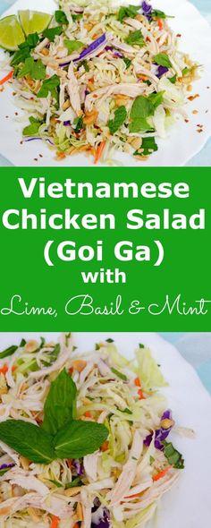 vietnamese chicken salad goi ga green
