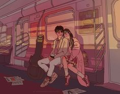 Imagen de couple, art, and illustration Cute Couple Drawings, Cute Couple Art, Hipster Drawings, Easy Drawings, Pencil Drawings, Japon Illustration, Couple Illustration, Aesthetic Art, Aesthetic Anime