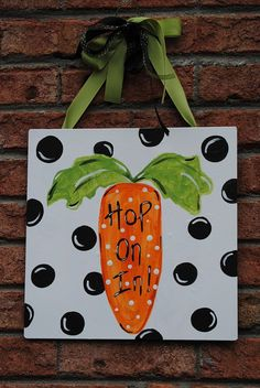 Hand Painted Easter Sign by GrowinLikeAWeed on Etsy, $22.00