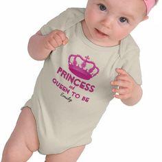 女の子は生まれたときからお姫様 ♪ #zazzle #ベビー #ロンパース