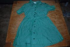 Vintage 1950/60 girls scout uniforms- green and brown with sashes