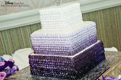 Wedding trends tend to take a hint from the fashion world- and ombre is no exception to the rule. I continue to see brides rock ombre dresses and carry it over into their hair, floral and even cakes. Wedding Ideas Board, Wedding Trends, Wedding Blog, Wedding Planning, Wedding Day, Dessert Bar Wedding, Wedding Desserts, Wedding Cakes, Purple Wedding