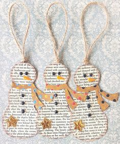 Snowmen ornaments Snowmen ornaments Related posts: Fingerprint heart ornaments DIY Fabric Covered Tree Ornaments Laminated snowglobe ornaments for kids to make for Christmas gifts/crafts! You c… DIY Embroidery Hoop Christmas Ornaments Christmas Crafts For Kids, Diy Christmas Ornaments, Book Crafts, Simple Christmas, Winter Christmas, Holiday Crafts, Snowman Ornaments, Ornaments Ideas, Tree Crafts