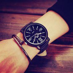 4.99$  Watch here - http://alijt5.shopchina.info/go.php?t=32578859123 - JIS Brand Rome Dial Classic PU Leather Sport Running Military Quartz Watch Wristwatch for Men Male Women  #shopstyle