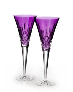 Lismore+Jewels+Amethyst+Toasting+Flutes,+Set+of+2+by+Waterford+Crystal+at+Neiman+Marcus.