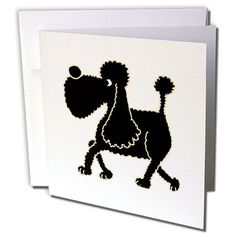 3dRose Funny Black Poodle Art Greeting Cards, Set of 6 (gc_195229_1) 3dRose http://www.amazon.com/dp/B00NVUWZTU/ref=cm_sw_r_pi_dp_PZccvb1TPX47Y
