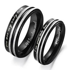 New Arrival 1Pc Unisex Stainless Steel You Are My Only Love Couple Wedding Band Promise Ring #Affiliate