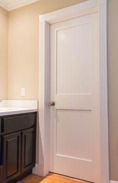 interior barn doors for every home Shaker Interior Doors, 2 Panel Interior Door, Masonite Interior Doors, White Interior Doors, Interior Door Styles, Shaker Doors, White Doors, 2 Panel Doors, Indoor Barn Doors