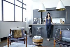 Athena Calderone in her kitchen | Photographer - Gerald Forster
