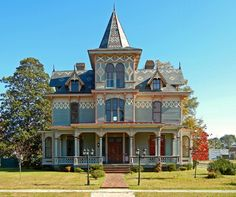 Hoffman-Riddick House, ca. 1889: Scotland Neck, NC. Built by wealthy merchant, Max Hoffman, who immigrated from Germany after the Civil War, this house has some of the finest Victorian detailing in the State. via EdgecombePlante