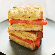 Grilled tomato and cheese with chipotle mayo