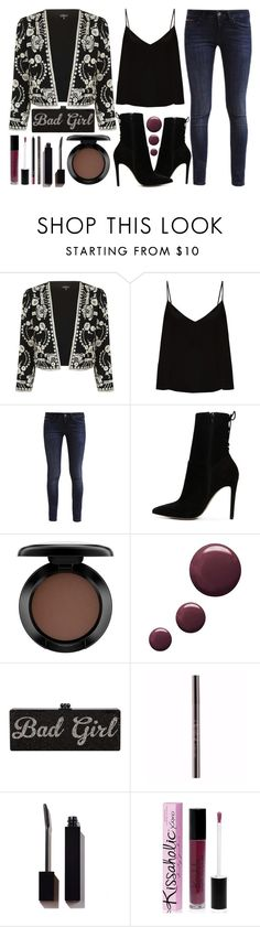 Easy For A Good Girl To Go Bad by latoyacl on Polyvore featuring Raey, Topshop, Hilfiger, ALDO, MAC Cosmetics, Parlor and NARS Cosmetics