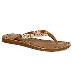 c5a80f95bcc34 UGG® Navie Braided Flip Flop leather jute rose gold sz7 60.00 6 16