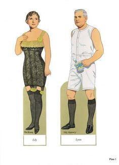 American Family Paper Dolls of 1900-1920 by Tom Tierney - © 1991 Dover Publications, Inc. : Plate 1 (2 of 18)