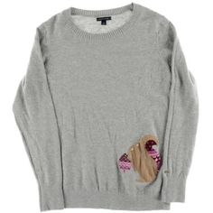 tommy hilfiger womens pullover sweater heathered squirrel