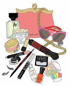 Makeup Vanity Drawers much Makeup Shack Dragon Eyelashes if Makeup Brushes Box a… – Fashion Design Makeup Illustration, Cute Illustration, Beauty Illustrations, Japanese Illustration, Whats In My Makeup Bag, Makeup Shack, Perfume, Fashion Art, Fashion Design