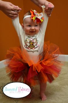 Fall Tutu Thanksgiving Made to Order by diamondprincessbows, $25.00