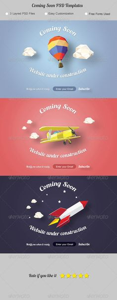 Coming Soon Template Design. Under Construction Page. - 404 Pages - Download Here : http://graphicriver.net/item/coming-soon-under-construction-page/7789812?s_rank=1&ref=yinkira