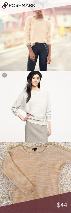 J. Crew dolman sweater J. Crew dolman sweater in great condition.   Minimal signs of wear.  Wool blend - not scratchy.  Comes from a smoke free home! J. Crew Sweaters