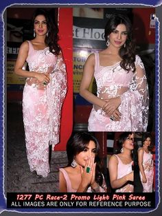 @ $99 Priyanka Chopra Race 2 promo Saree with FREE shipping offer only at www.buyindianwear.com