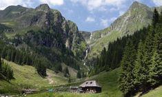 Cascada Văii Rele din Nucșoara, una dintre cele mai spectaculoase cascade din România Carpathian Mountains, Mountain Range, Eastern Europe, Beautiful Landscapes, Tourism, Waterfall, Beautiful Places, Scenery, Nature