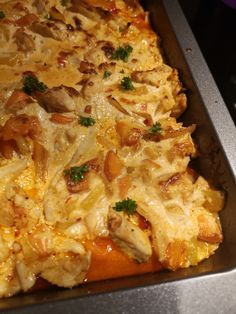Baked Chicken, Chicken Recipes, Moussaka, Food For Thought, Wok, Macaroni And Cheese, Brunch, Veggies, Food And Drink
