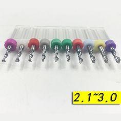 Miễn phí Vận Chuyển 10 Cái 2.1 mét-3.0 mét Nhập Khẩu Carbide PCB Khoan Bits In Circuit Board Mini Khoan CNC Bit Set Công Cụ Chế Biến Gỗ