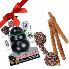 Big toys for big boys, and girls: toys and treats in this gift set for large breed dogs