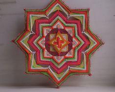 Svadhisthana - woven mandala / ojo de dios / olho de deus / eye of god - wall hanging 26 cm (10 ') diameter