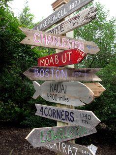 Pallet Wood Sign Post DIY