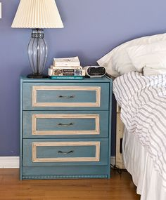 Awesome DIY nightstand.  Lots of lead time for bedroom redecoration!