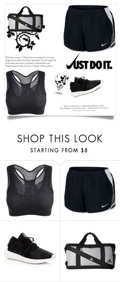 """""""Nike """" by queenshaima ❤ liked on Polyvore featuring NIKE, adidas and H&M"""