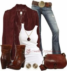 Chic Outfit with a different pair of jeans.