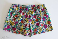 sew pajama shorts that are boxer shorts style with this tutorial and free pattern