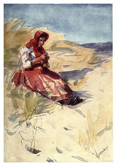 En las dunas de arena-Portugal its land and people- Ilustraciones de S. Roope Dockery 1909