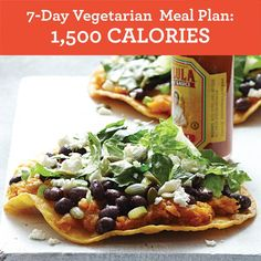 One-week vegetarian diet meal plan