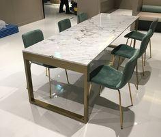 WMQU Table 대리석 : 스타투아리오 프레임 : 골드색상 사이즈 : 주문제작 Meeting Table, Marble, Dining Table, Furniture, Home Decor, Decoration Home, Room Decor, Dinner Table, Granite