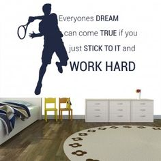 Tennis Wall Stickers | Iconwallstickers.co.uk